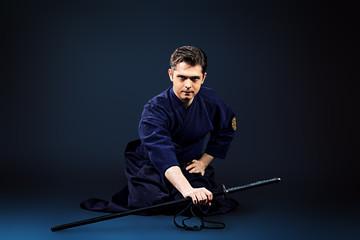 practicing kendo