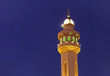 Beautiful minaret of Al Fateh Mosque of Bahrain at blue hours