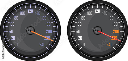Speedometer isolated on the white
