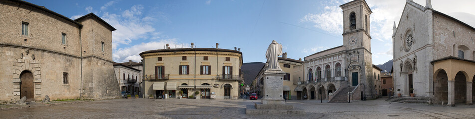 Buildings on Norcia square