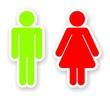 stickers of toilet symbols