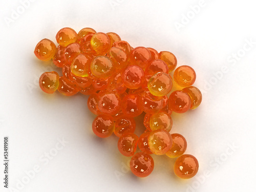 Red caviar on a white background №5