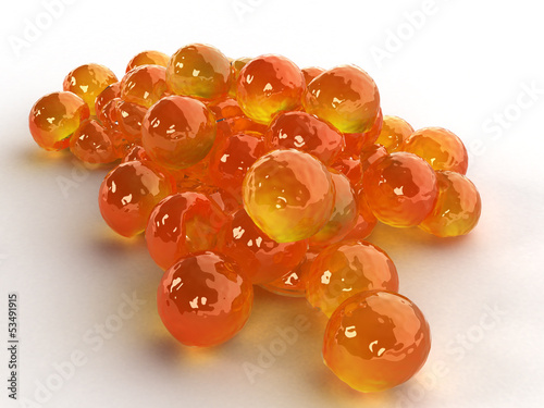 Red caviar on a white background №3