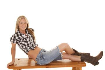 cowgirl black top sit side