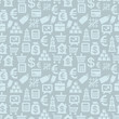Vector seamless pattern with finance icons