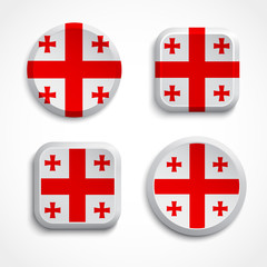 Georgia flag buttons