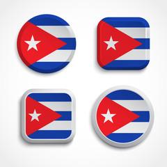 Cuba flag buttons