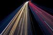 canvas print picture - Nachtaufnahme - Autos auf Autobahn 2
