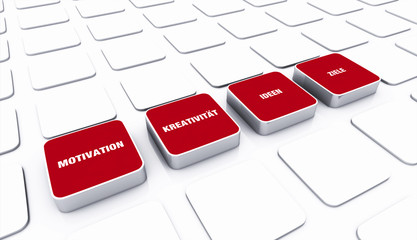 Pad Konzept Rot - Motivation Kreativität Ideen Ziele 1