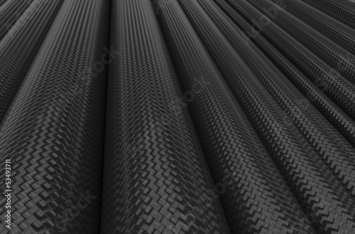 Carbon fiber tubes background