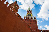 Wall of the Moscow Kremlin with space for text