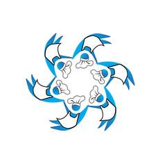 Teamwork cookers business logo vector