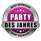 5 Star Button pink PARTY DES JAHRE NV NV