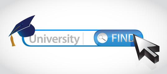 Word University written in search bar