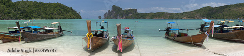 Long tail boat at Phi Phi Don