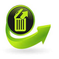 restaurer, retirer de la corbeille flèche verte