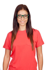 Attractive woman with glasses