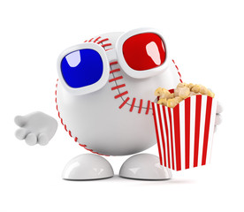 Baseball watches the latest 3d movie