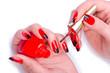 Leinwandbild Motiv Fashion concept with nail art