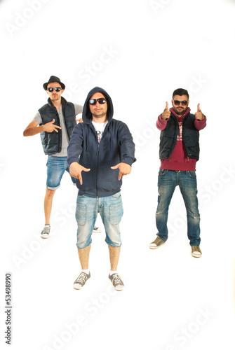 Rappers men gesturing