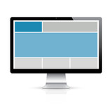 Highly detailed responsive grid computer display vector