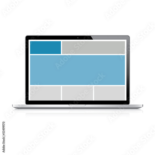 Highly detailed responsive grid laptop vector