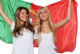 Mädchen mit Flagge