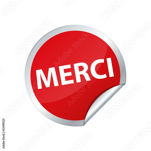 Danke merci Button