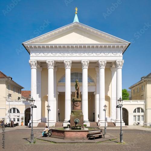 Leinwanddruck Bild Stadtkirche Karlsruhe