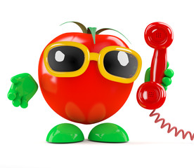 Tomato answers the phone