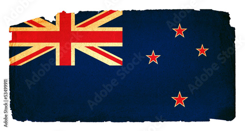Grungy Flag - New Zealand