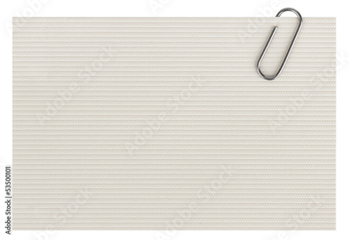 business cards with paper clip isolated on white background
