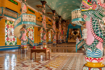 In Cao Dai Temple