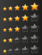 Set of starry rating buttons