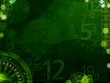 Green elegant background with casino elements
