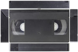 Top side view video tape