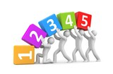 Numbers metaphor. Teamwork