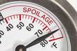 Refrigerator Thermometer Spoilage Area Macro Detail