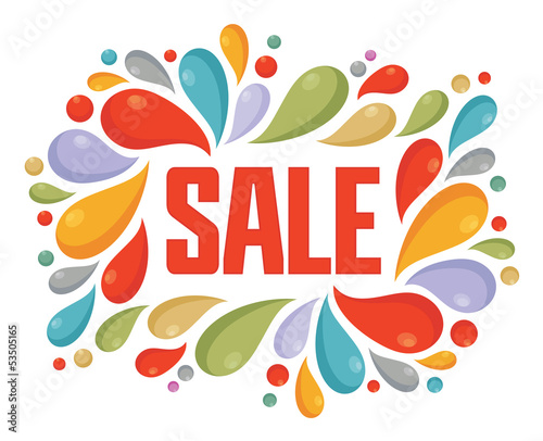 Sale Vector Color Label