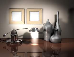 Rahmen Vase Lampe