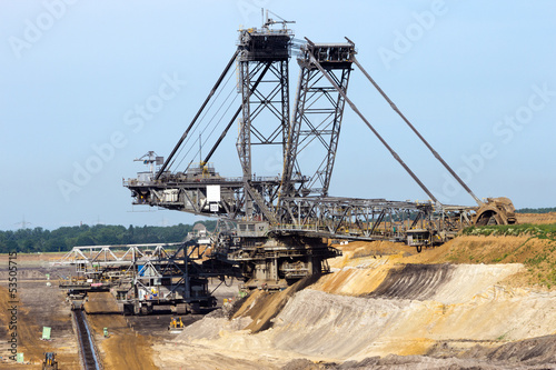 Brown coal excavator
