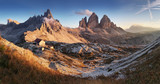 Dolomites mountain  in Italy at sunset - Tre Cime di Lavaredo