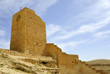 Wall tower of Mar Saba convent. poster