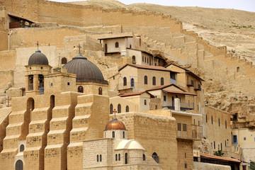 Mar Saba convent buildings, Israel.