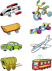 variety of vehicles