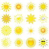 Fototapety 16 verschiedene Sonnen