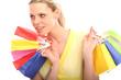 Frau mit Shoppingtaschen
