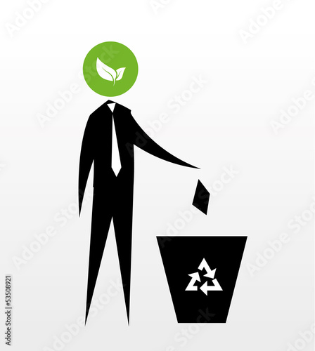 stick figures - recycle bin