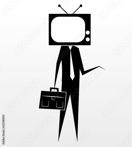Stick figure - tv head