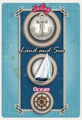 Symbols of marine porthole